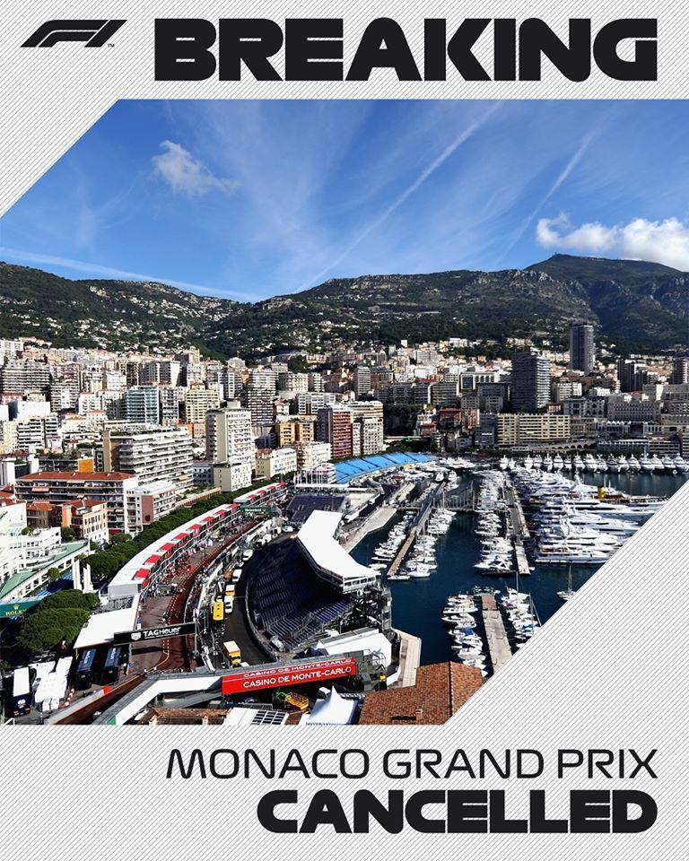 自1955年以來摩納哥大獎賽頭一次停止舉辦。 摘自F1