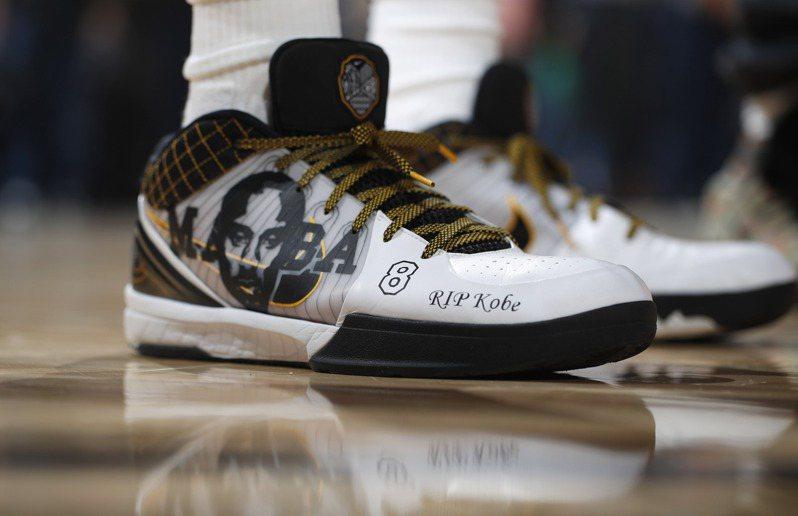 球員穿著鞋款前五名,布萊恩個人就有2款鞋上榜。 美聯社