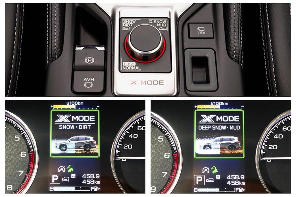 「X-Mode」脫困裝置系統,針對路況進行傳輸模式調整濕滑/礫石、雪地/泥濘等(...