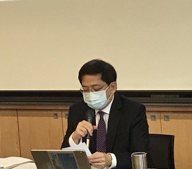 台大校長管中閔今天主持校務會議。記者潘乃欣/攝影