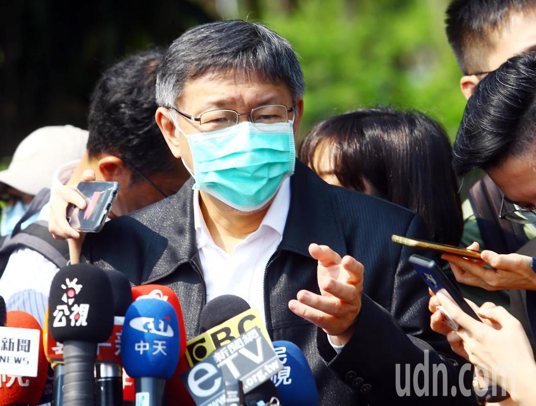台北市長柯文哲。本報系資料照/記者杜建重攝影
