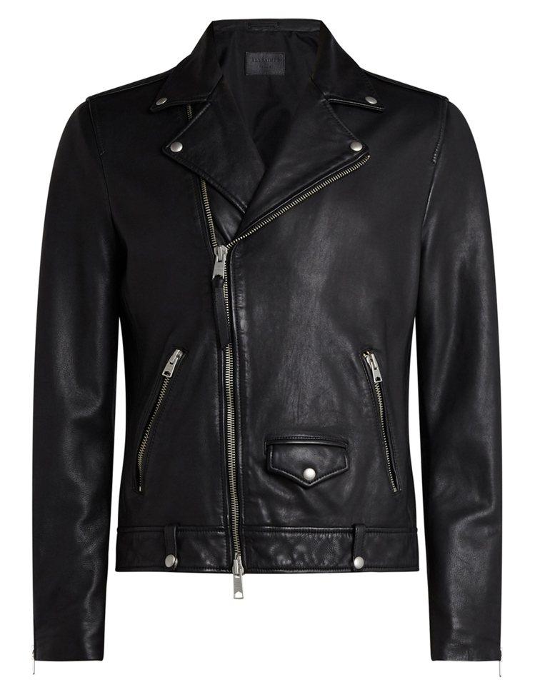 Milo黑色騎士夾克18,500元。圖/AllSaints提供