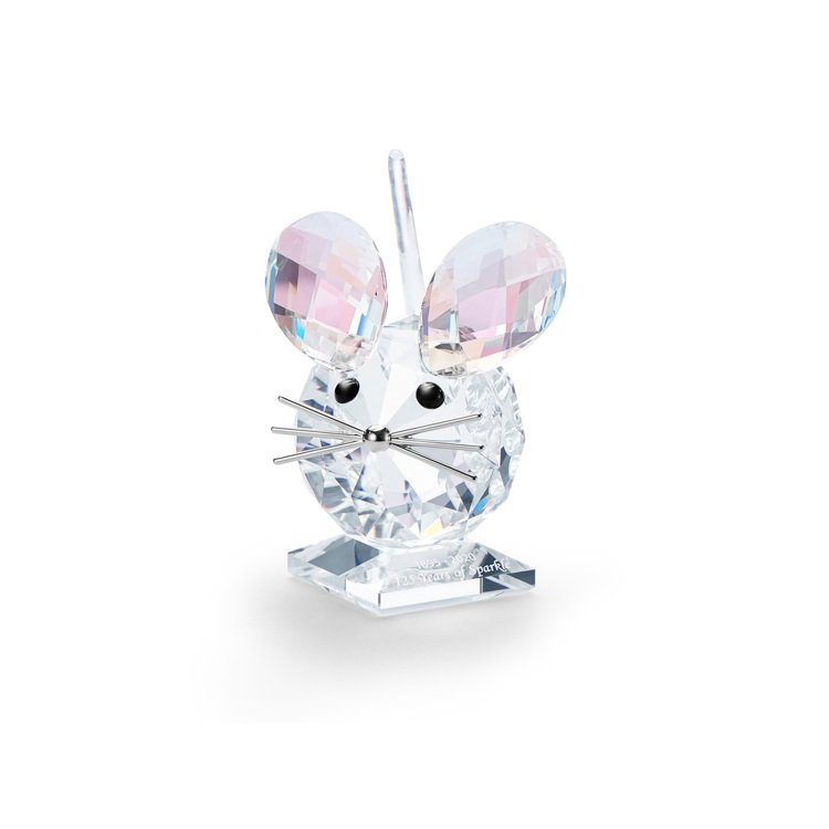 施華洛世奇限量發行125周年紀念版老鼠水晶擺件/6,490元 。圖/施華洛世奇提...