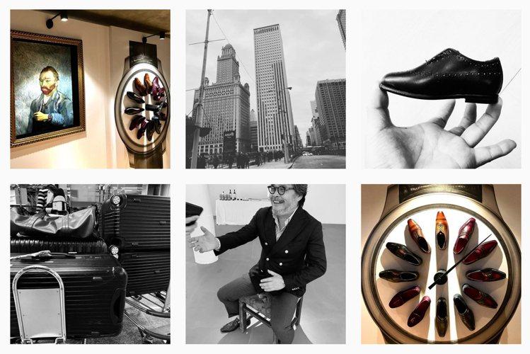 不時以黑白照片呈現的男鞋店舖Graziat,呈現鮮明的藝術氣息。翻攝自 ig @...