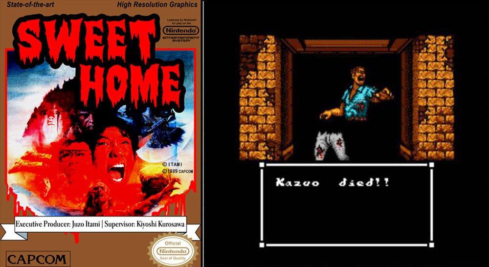 1989 年在任天堂 FC 紅白機上登場的 RPG 遊戲《甜蜜之家》(SWEET...