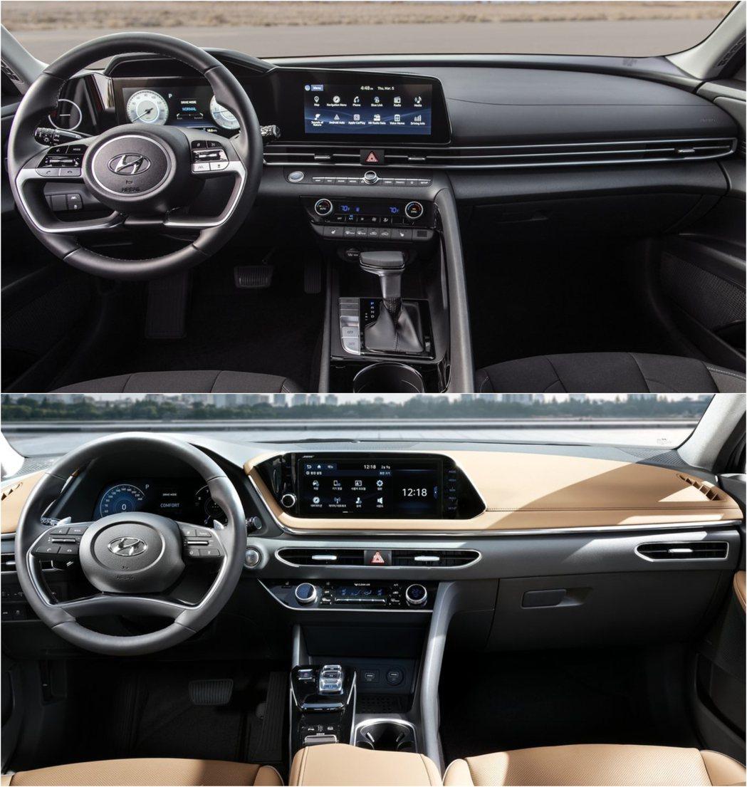 圖上:Elantra、圖下:Sonata。 摘自Hyundai