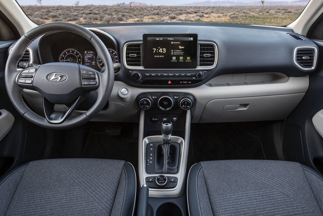 Hyundai Venue內裝鋪陳跟其他車款明顯不同。 摘自Hyundai