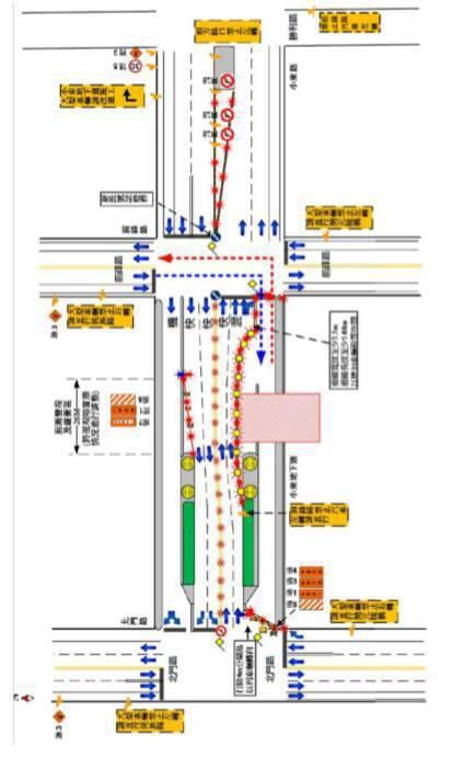 配合台南市區鐵路地下化工程,北區小東路地下道南側車道,從3月24日中午12點起,封閉施工6個月。圖/台南市警五分局提供