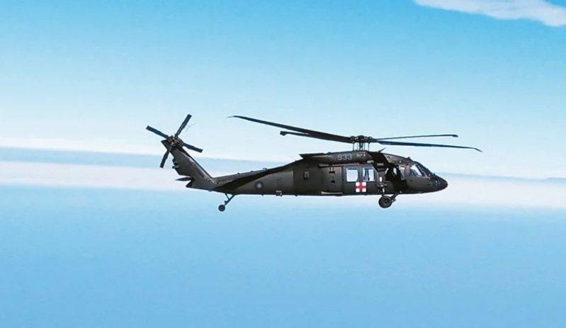 失事的933號UH-60M直升機。報系資料照,記者石偉民/攝影