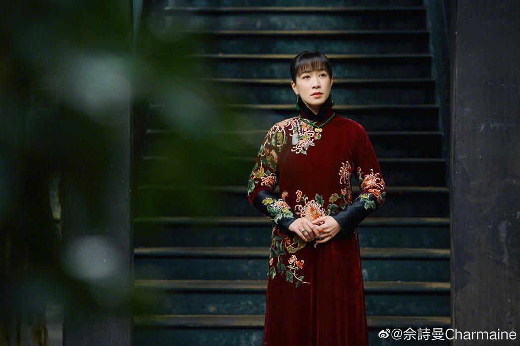 佘詩曼演出「鬢邊不是海棠紅」。圖/摘自微博