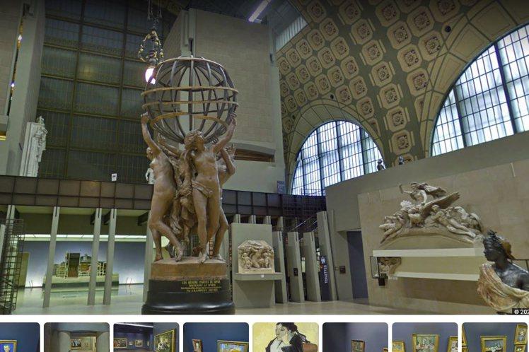 Google Arts & Culture有多座美術館、博物館的實境畫面。圖/擷...