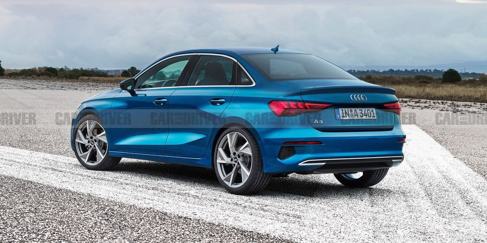 新世代Audi A3 Sedan預想圖,並非實際廠照。 摘自Car and Dr...
