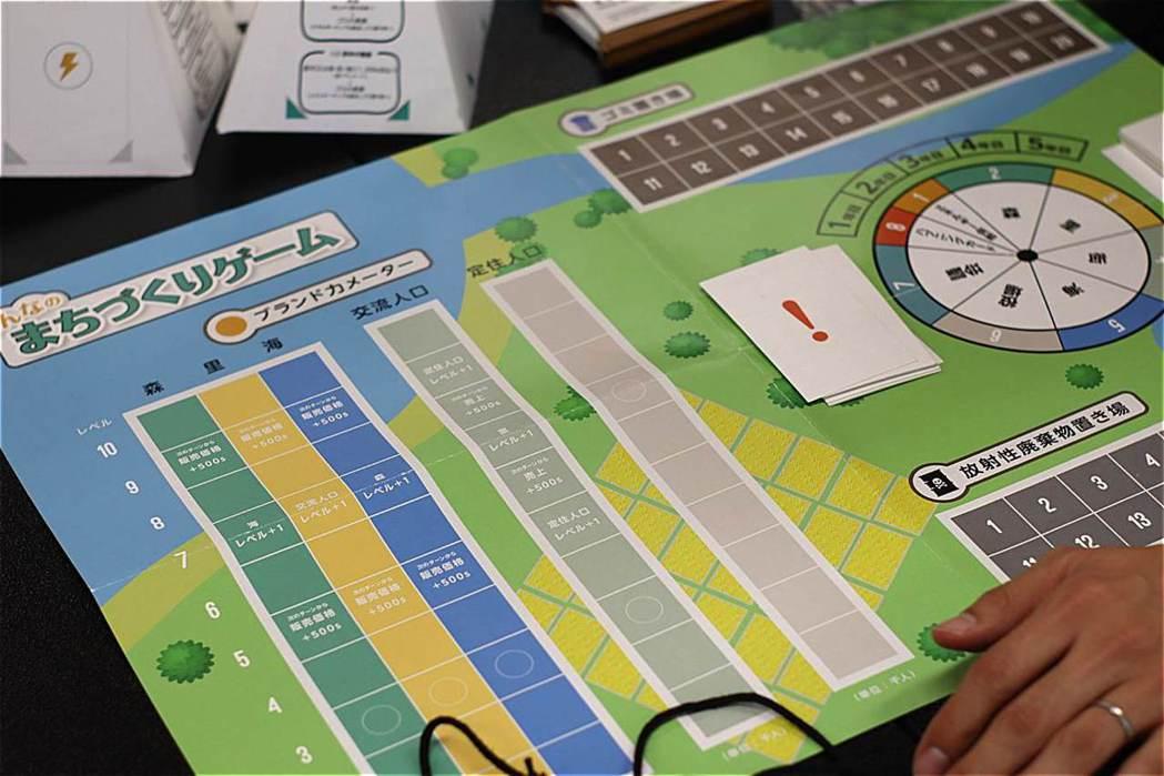 永續發展目標的桌遊遊戲,以及選擇牌卡。 圖/摘自上下游