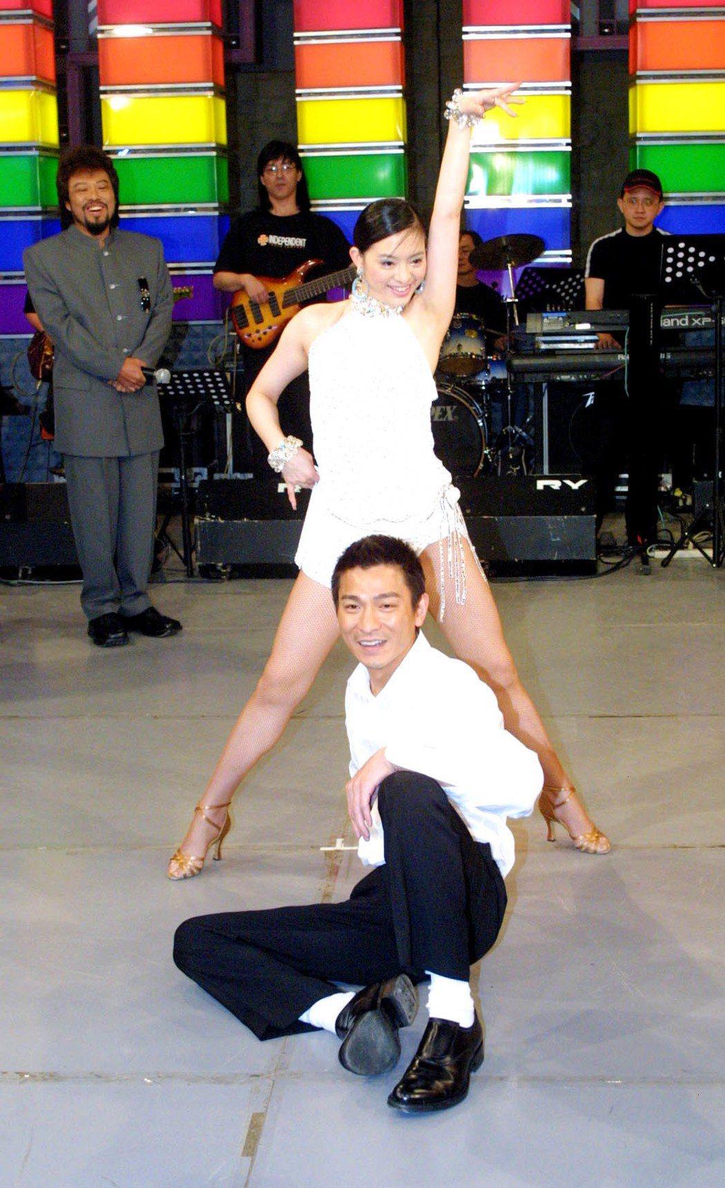 劉真曾與劉德華共舞。圖/報系資料照(記者陳瑞源攝影)
