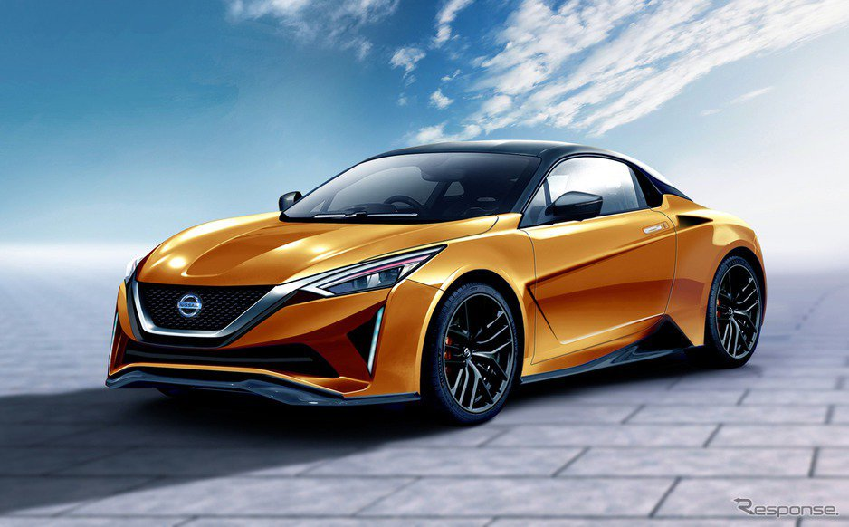 Nissan中置跑車預想圖。 摘自Response.jp