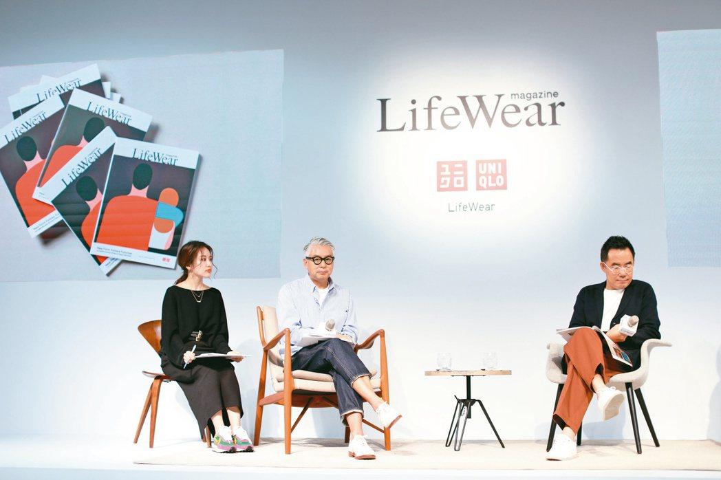 木下孝浩(中)去年來台參與《Lifewear》首刊座談會。 圖/吳致碩