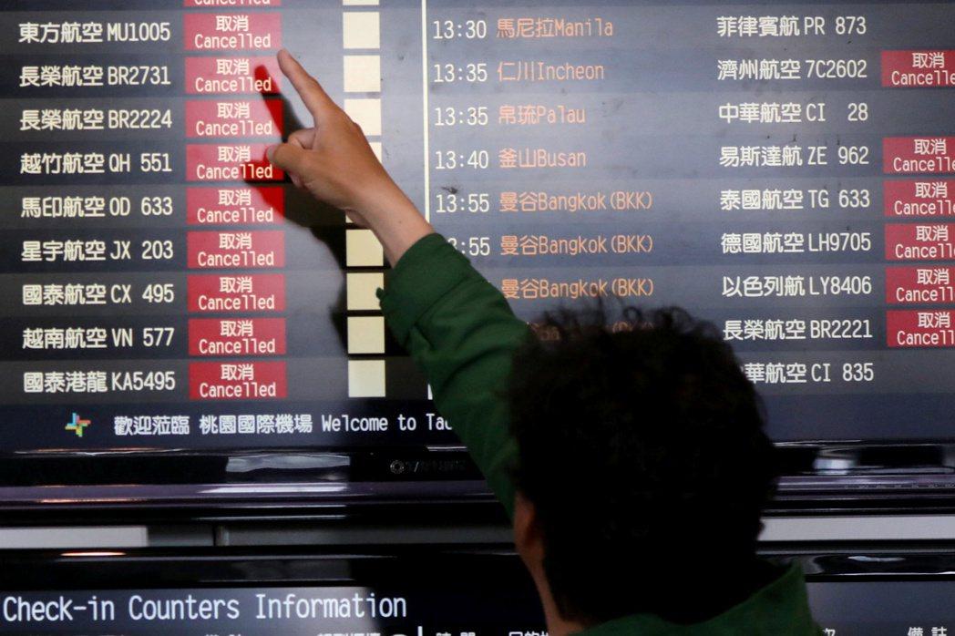 台灣自3月19日起,限制未獲事前申請核准的非本國籍人士入境。 圖/路透社