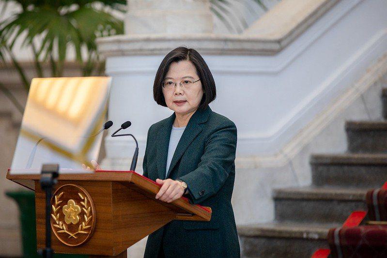 總統蔡英文在3月19日發表談話,提到目前尚未有發布緊急命令的需求。 圖/取自總統府