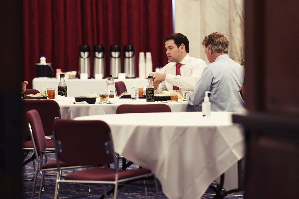 3天前才和蘭德.保羅一起吃飯的共和黨大老魯比奧。 圖/美聯社