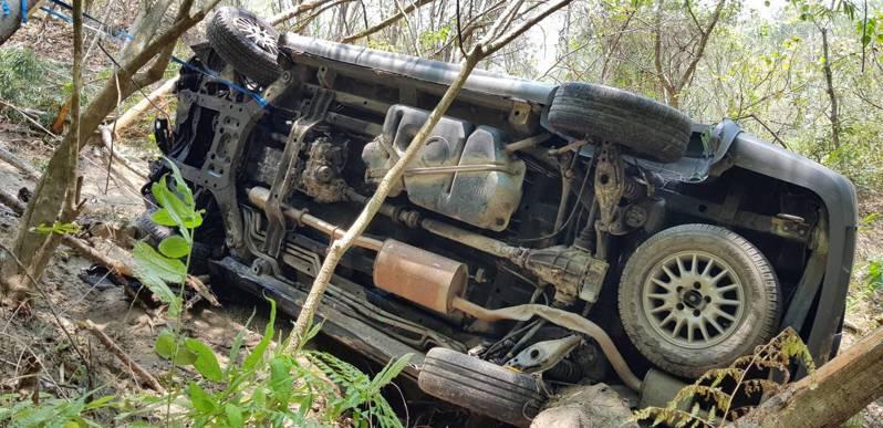 六龜山區發生墜谷意外,此起事故造成一人死亡。圖/六龜飛鷹大隊提供