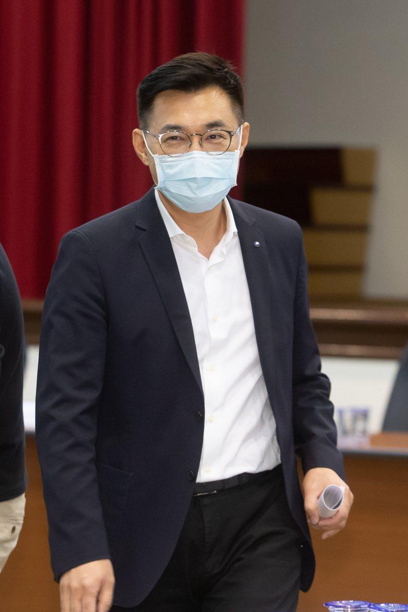 國民黨主席江啟臣。記者季相儒/攝影