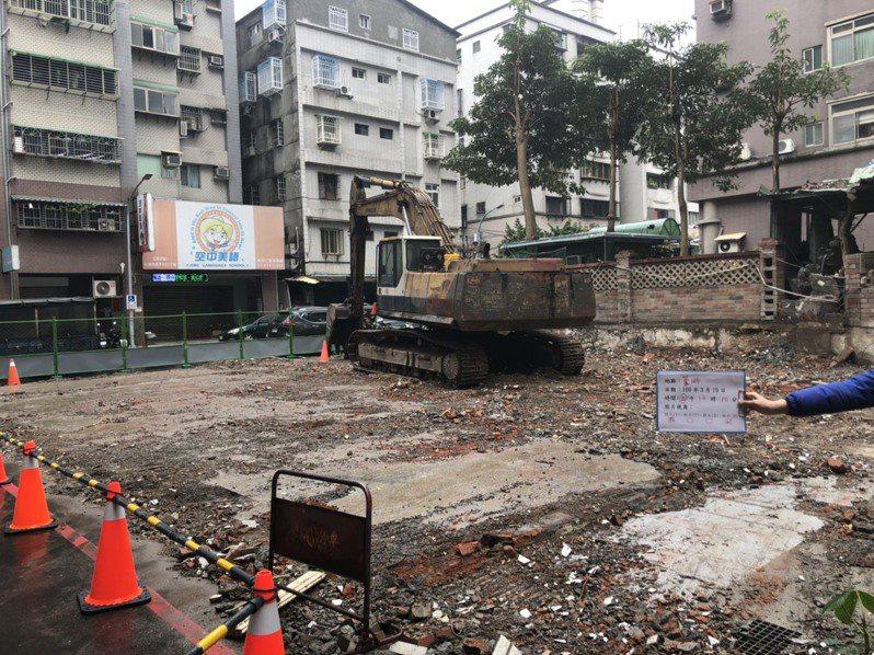 蘆洲水湳街已拆除現況。圖/新北市都更處提供