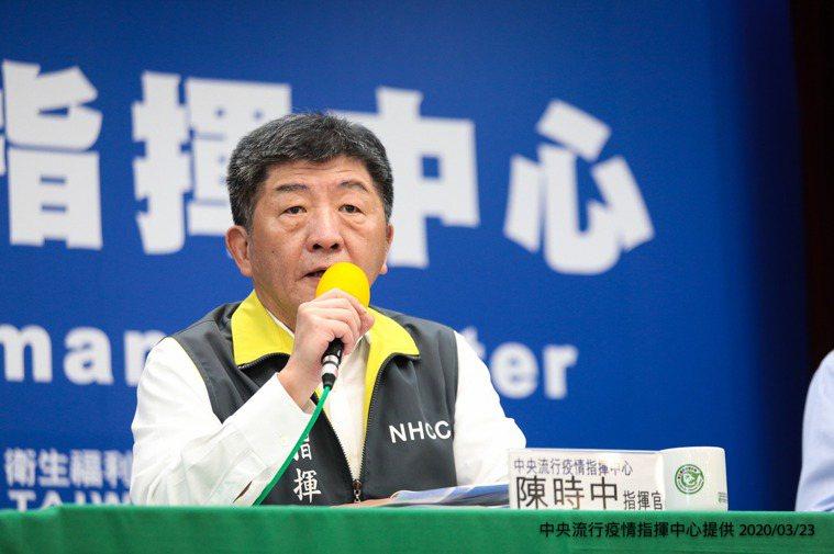 指揮官陳時中表示,居家檢疫和機場攔截是兩條非常重要的防線。圖/中央流行疫情指揮中...