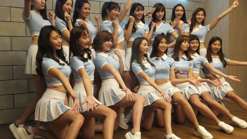 中職開季仍有啦啦隊熱舞,但不能出聲,圖為Fubon Angels。記者藍宗標/攝影