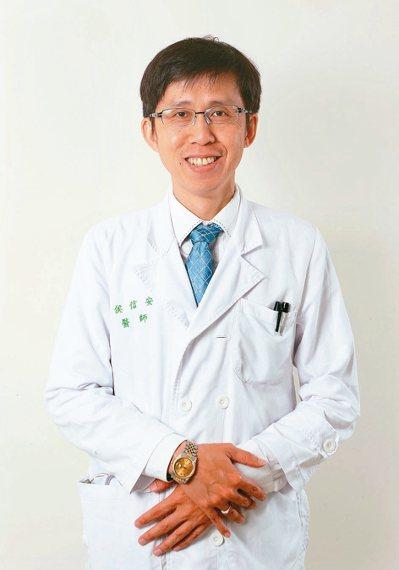 血液病學會副祕書長、台大醫院血液腫瘤科主治醫師侯信安。 記者林澔一/攝影