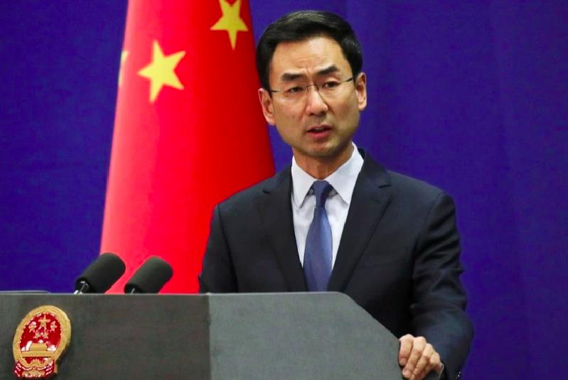 中國外交部發言人耿爽。美聯社資料照片