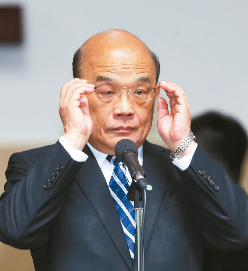 行政院長蘇貞昌今天說,中國是一個國,台灣也是一個國,他不贊成不往來。 記者曾吉松/攝影