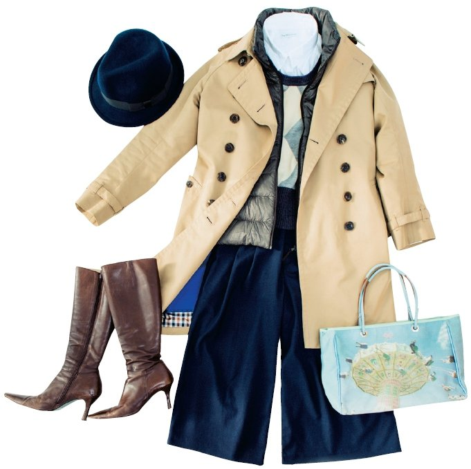 繪里沙的冬季穿搭。圖/幸福文化提供