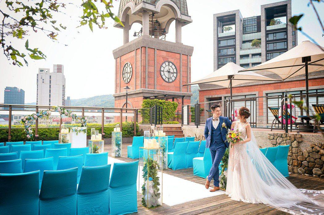 四樓空中花園證婚。業者/提供
