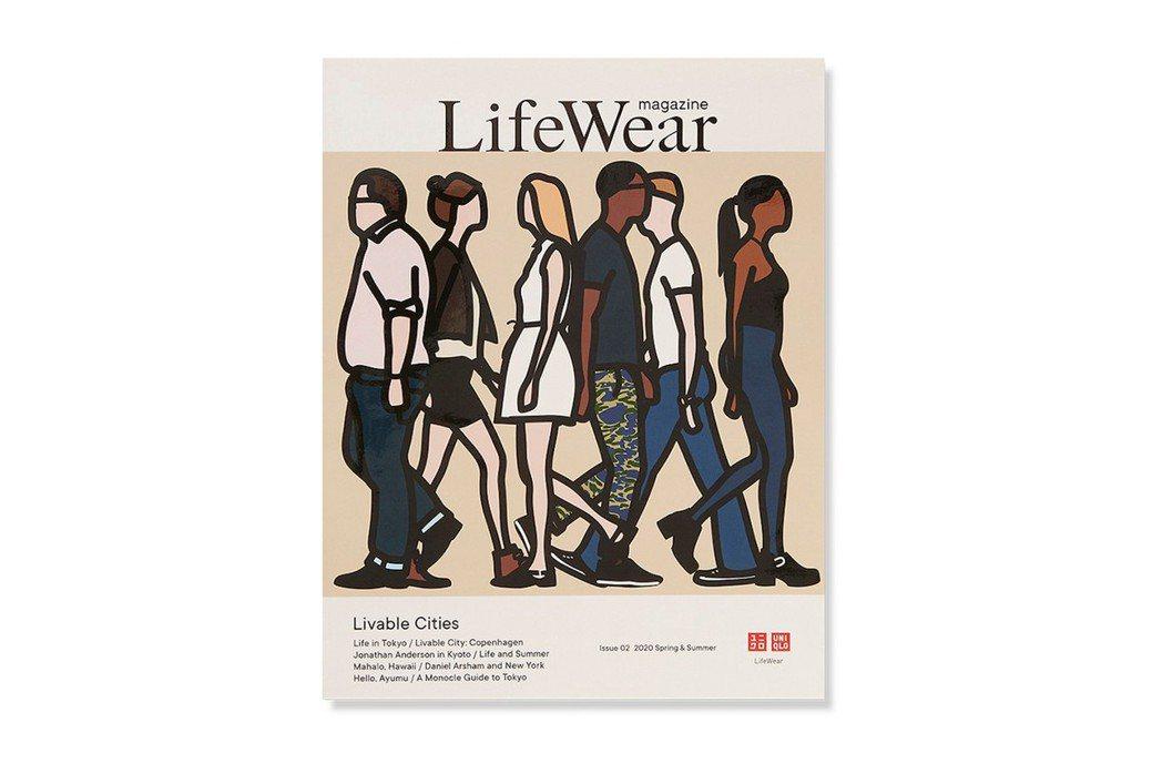 第二期《LifeWear》雜誌封面的插畫由英國藝術家 Julian Opie 創...