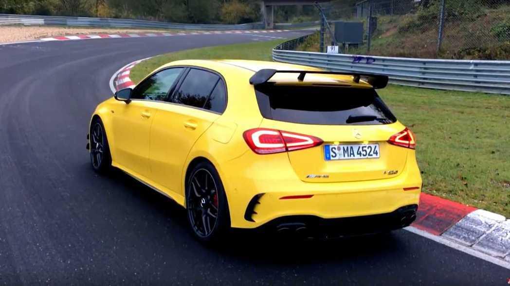 Mercedes-AMG A45 S的成績可說是差強人意。 摘自Motor1