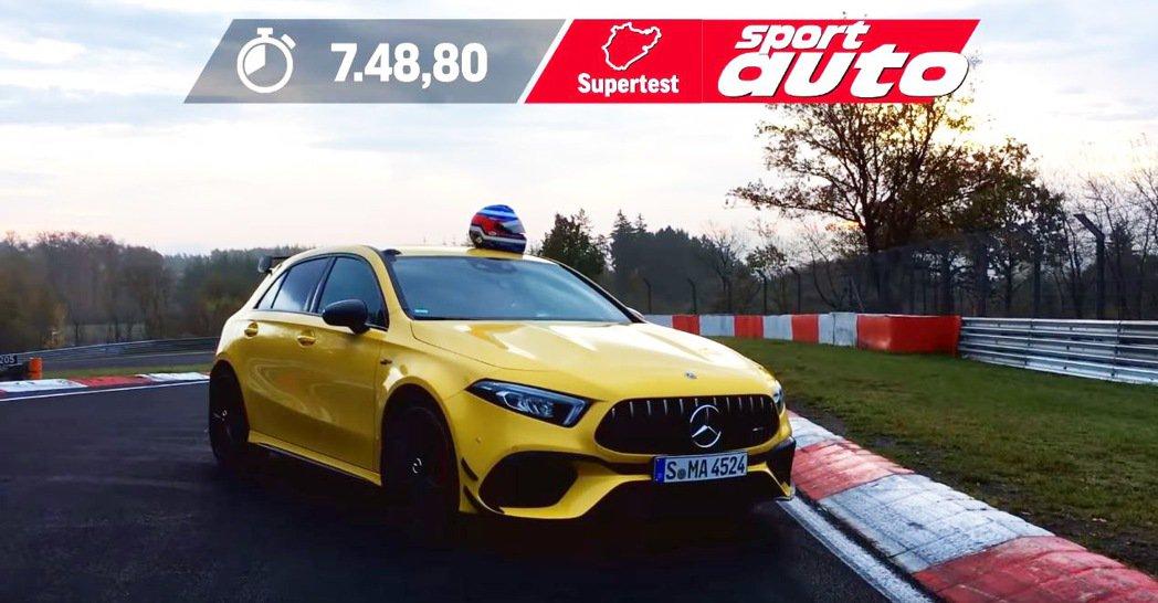 Mercedes-AMG A45 S的紐柏林成績為7分48秒8。 摘自Motor...