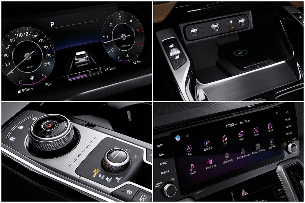 第四代Kia Sorento改採線傳式排檔系統取代傳統的排檔桿設計。 摘自Kia