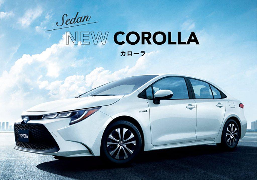 Toyota Corolla車系以9,898輛排名日本乘用車銷售第三名。 圖/T...