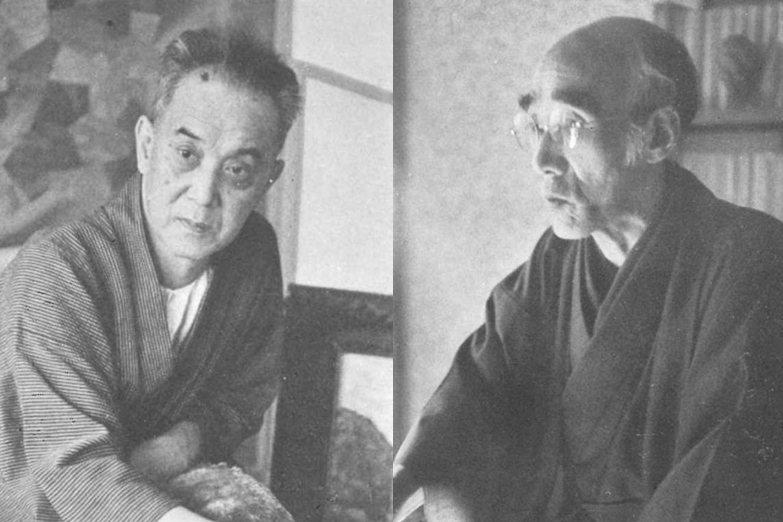 廣津和郎(左)認為宇野浩二(右)極具鑑賞文章的才華,但對於新思潮卻顯得保守。 圖...