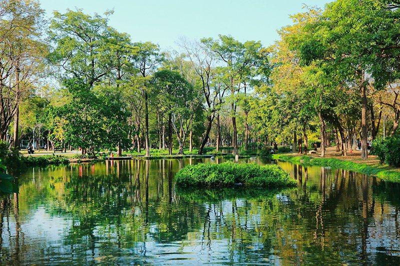 綠色映著水面,沉浸在大自然之中,美景如畫般。 (攝影/Cater)