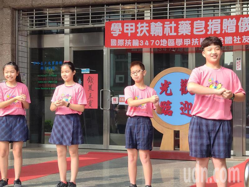 東陽國小跳洗手舞宣導防疫。記者謝進盛/攝影