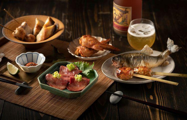 旭集綜合烤物。圖/饗賓餐旅提供