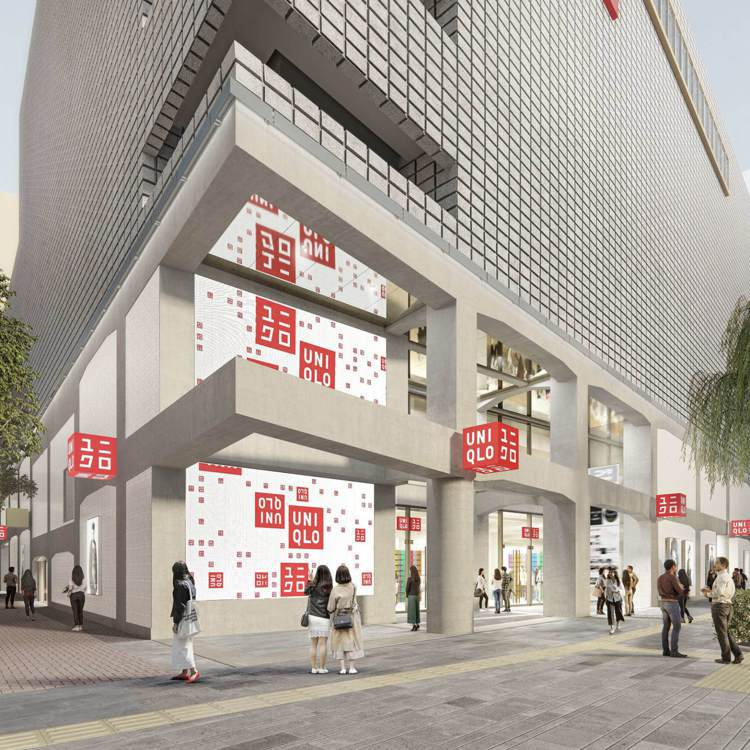 UNIQLO銀座全球旗艦店,預計將在5月15日開幕,總面積達到1,350坪。圖/...