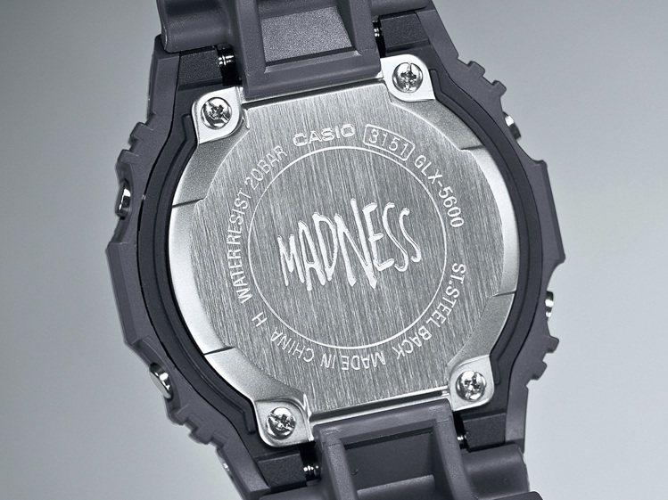G-Shock GLX-5600MAD19腕表,底蓋上刻有Madness Log...
