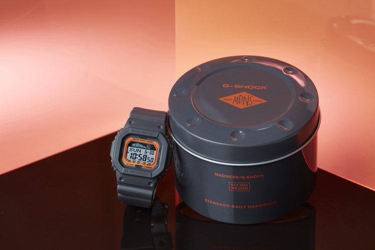 整體外盒包裝採用表款上的鐵灰與艷橘配色。