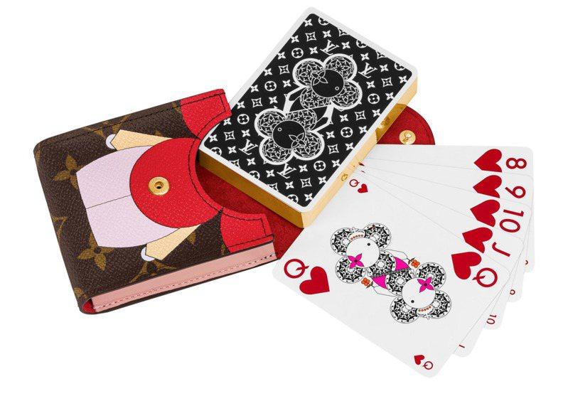 Vivienne撲克牌連收納袋,售價23,000元。圖/LV提供