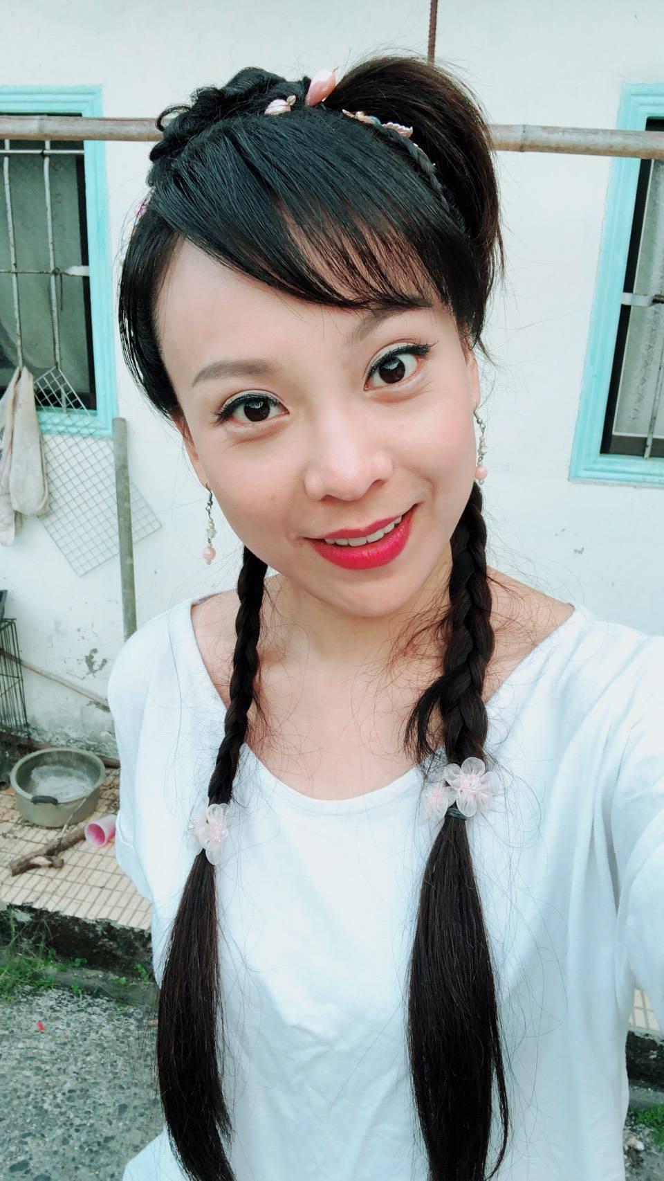 卓楚妍拍「戲說台灣」,劇中飾演一名蛙精。圖/卓楚妍提供