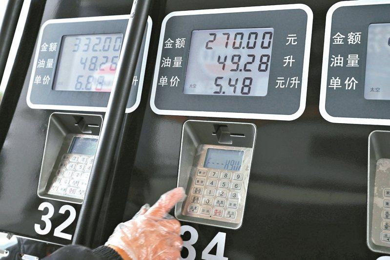 國際油價持續下跌,大陸成品油價格大降。 中新社