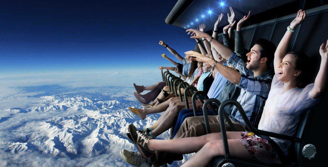 近幾年全球主題遊樂園颳起體感遊樂設施風潮。 智崴/提供