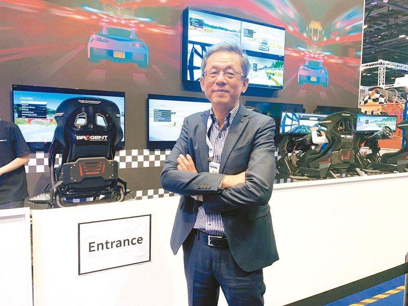 智崴總經理歐陽志宏分析,台灣體感設備業者一開始就鎖定高階市場,是拉高市占率最主要的關鍵。 智崴/提供